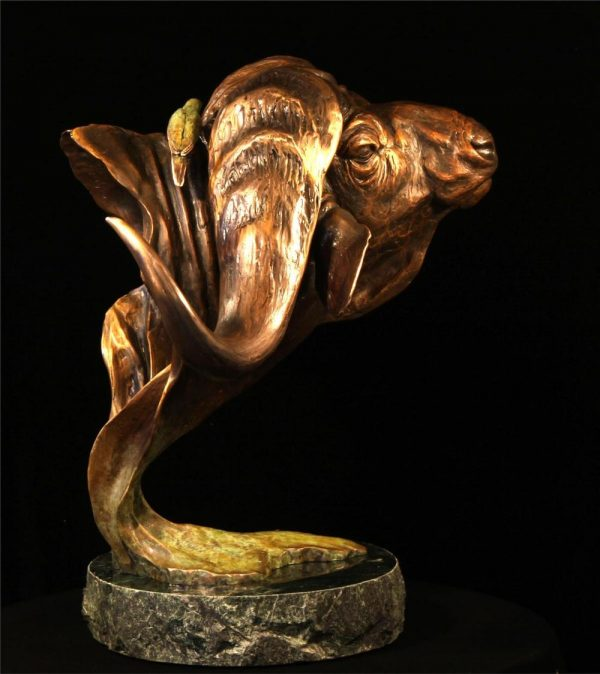 """""""Bad to the Bone"""" - Large (sold out) Bad to the Bone African bronze sculpture African wildlife art sculptures"""