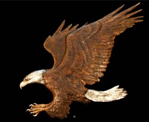 "Eagle Relief- Life Size36""H x 45""W - Edition of 12 - $10,800 Eagle Relief- Life Size north american animals big game wildlife sculptures bronze statues"