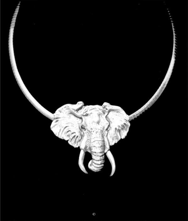 Elephant-Sterling Elephant-Sterling Silver Pendants Sterling Silver Jewelry