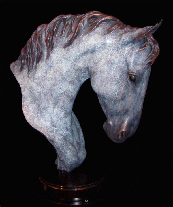 "High Class - Horse24""H x 18""L x 9""W - Edition of 24 - $5600 High Class - Horse north american animals big game wildlife sculptures bronze statues"