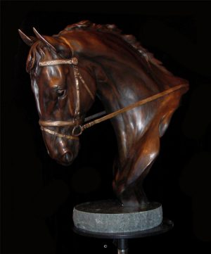 "High Class with Bridle24""H x 18""L x 9""W - Edition of 24 - $5600 High Class with Bridle north american animals big game wildlife sculptures bronze statues"