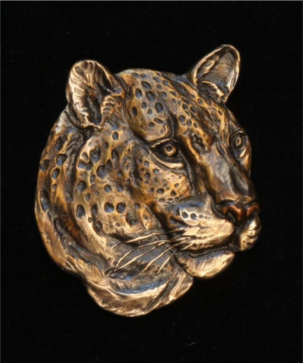 "Leopard Relief -6""H x 5""W - Open Edition Leopard Relief Bas Relief African Big Five"