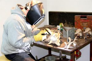 Michael at work Jocelyn Russell Sculptor Jocelyn Russell Fine Art Artist