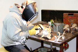 Michael at work Jocelyn Russell Sculptor Jocelyn Russell Fine Art Artist