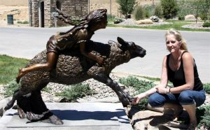 Mutton Bustin Monument Mutton Bustin - Monument Monuments Life-size sculpture