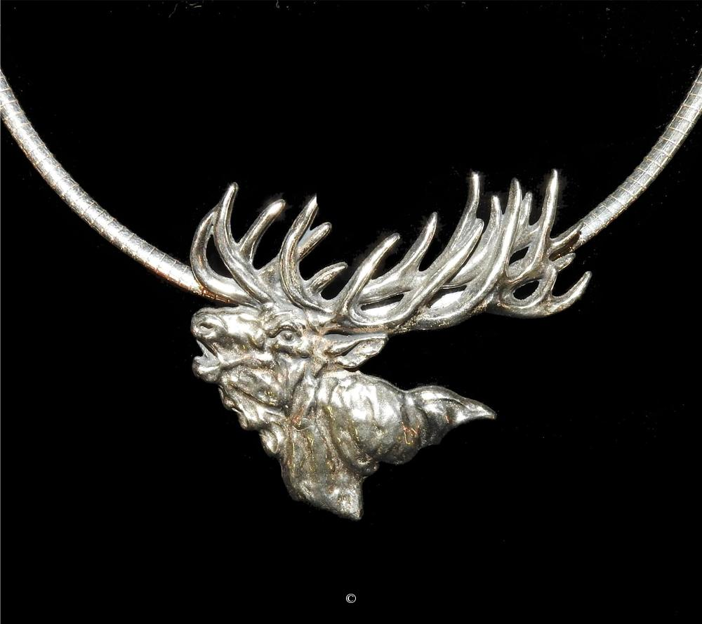Red Stag- Sterling Silver