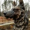 Service Sentinal - German Shepard Monumental Sculpture by Jocelyn Russell Service Sentinal 2 German Shepard Memorial Sculpture Police Dog Sculpture