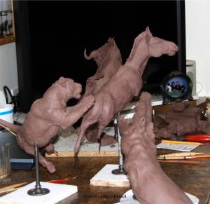 Survival Series in Progress Survival Series In Progress African Predators Sculpture African Prey Animals