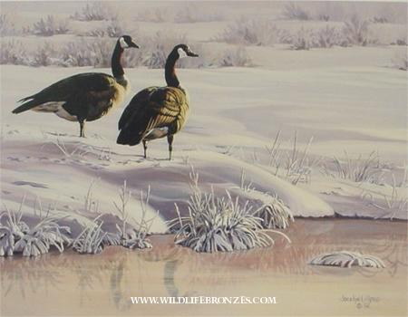 Artesian Retreat geese - Prints Only - Running Wild Studio Original Paintings Limited Edition Reproductions