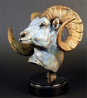 """Cliff Hanger Dall Sheep Bronze - 12""""H x 10""""L x 12""""W - Edition of 48"""