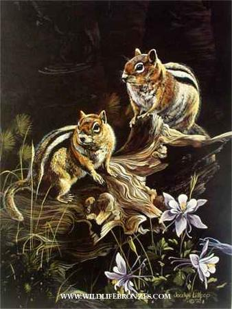 Easy Keepers Ground Squirrels - Prints Only - Running Wild Studio Original Paintings Limited Edition Reproductions