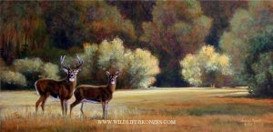Golden Shadows - Original (sold) - Running Wild Studio Original Paintings Limited Edition Reproductions