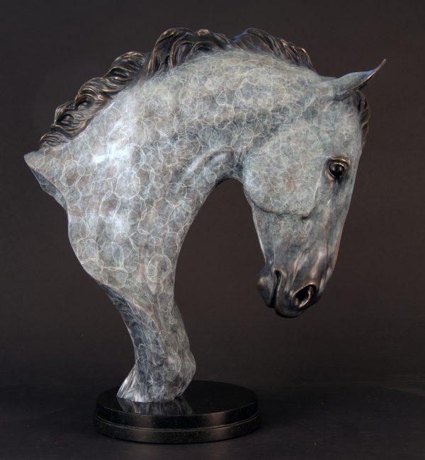"High Class Horse Bronze Bust - 24""H x 18""L x 9""W - Edition of 24"