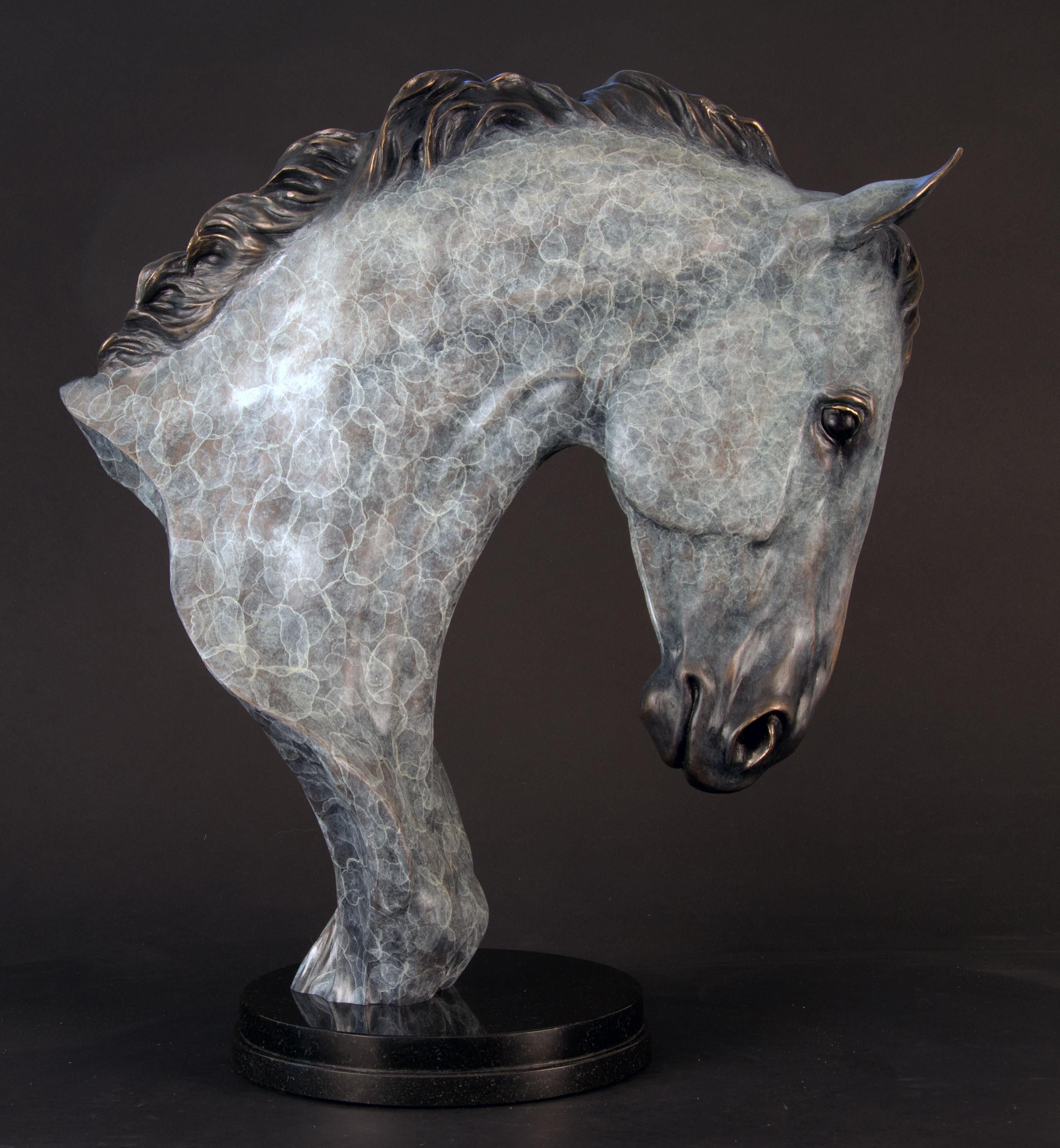 High Class Horse Bronze Bust