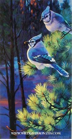 Inquisition Blue Jays - Prints Only - Running Wild Studio Original Paintings Limited Edition Reproductions
