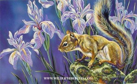 Out of the Woods Red Squirrel - Prints Only - Running Wild Studio Original Paintings Limited Edition Reproductions