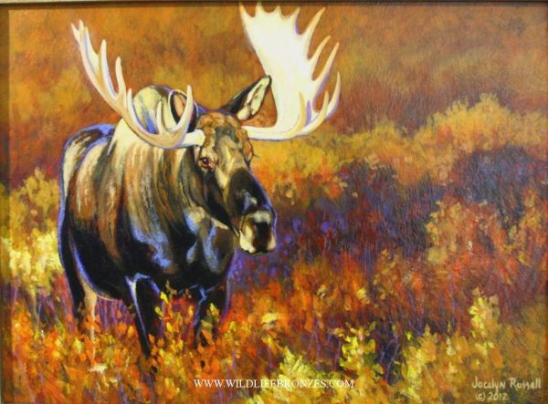 Moose Painting Prince of Denali - Running Wild Studio Original Paintings Limited Edition Reproductions