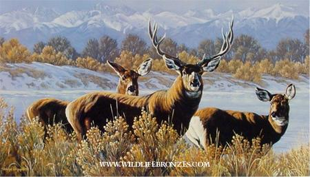 The Grande Elusion - Mule DeerCall for print availability - Running Wild Studio Original Paintings Limited Edition Reproductions