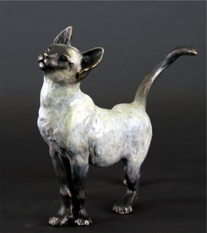 "'Little Lioness' -cat bronze -14""H x 14""L x 4""WEdition of 48"
