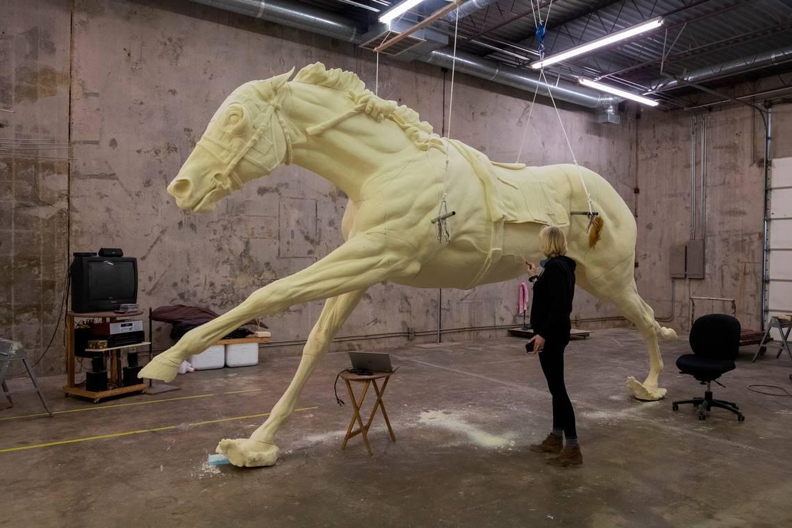 The Secretariat Horse Monumental Sculpture Project Jocelyn Russell